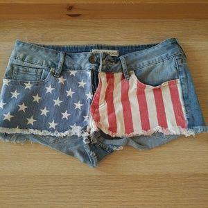 PacSun American flag shorts